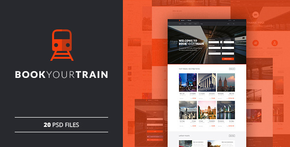 ThemeForest Book Your Train Online Booking PSD Template 11431825