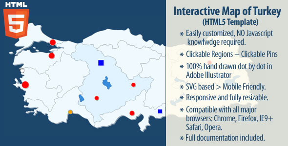 CodeCanyon Interactive Map of Turkey 11755322