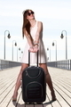 Beautiful woman gtourist girl with baggage