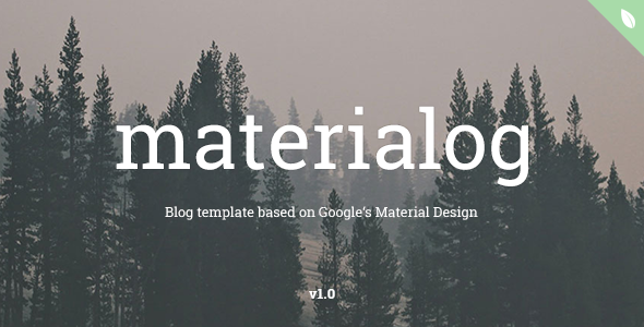 ThemeForest materialog Material Design HTML5 Blog Template 10677976
