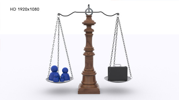 Scale Balance Between Family And Work