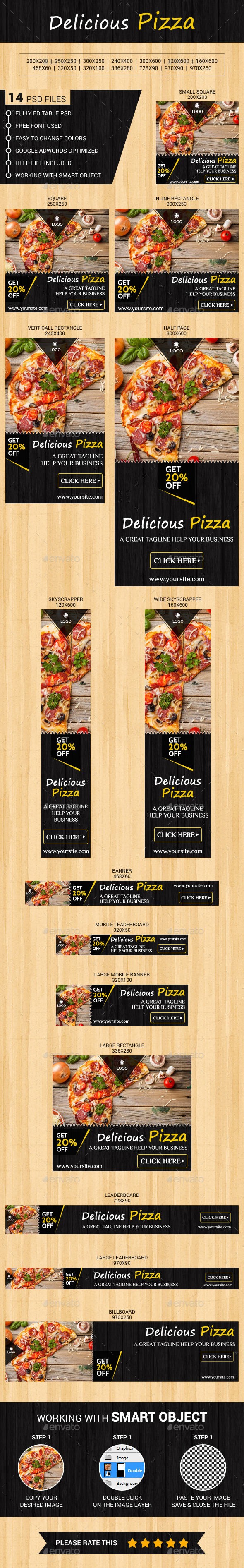 GraphicRiver Delicious Pizza 11757854
