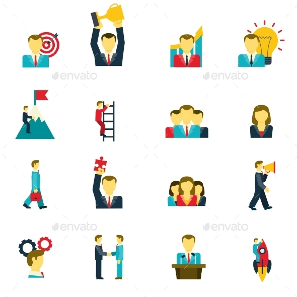 GraphicRiver Leadership Icons Set 11757949