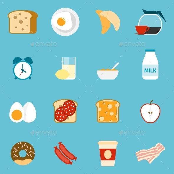 GraphicRiver Breakfast Icons Set 11757950