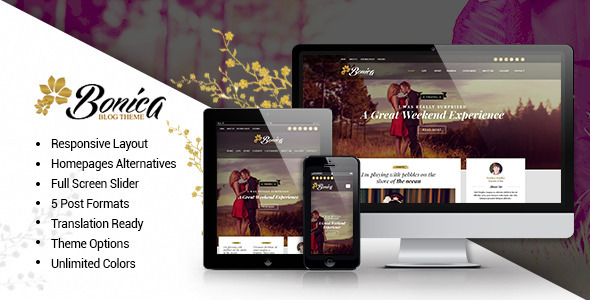 ThemeForest Bonica Responsive Blog WordPress Theme 11660673