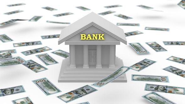 Money Falling Near the Bank