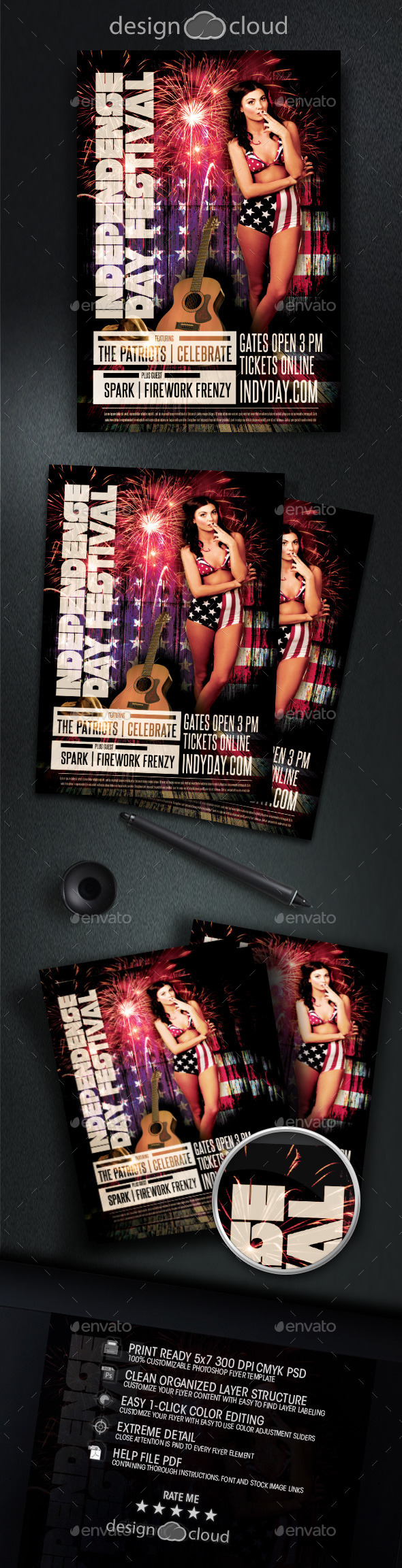 GraphicRiver Independence Day July 4 Flyer Template 11758568