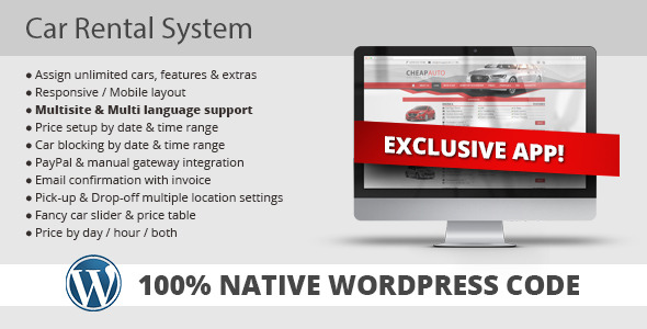 CodeCanyon Car Rental System Native WordPress Plugin 11758680