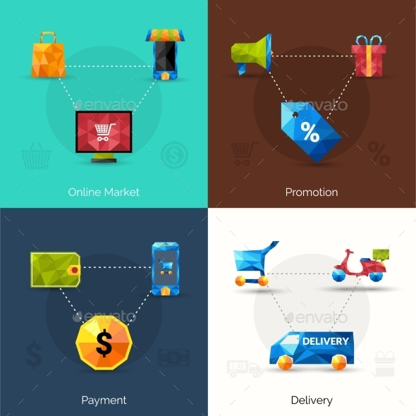 GraphicRiver E-commerce Polygonal Icons 11758991