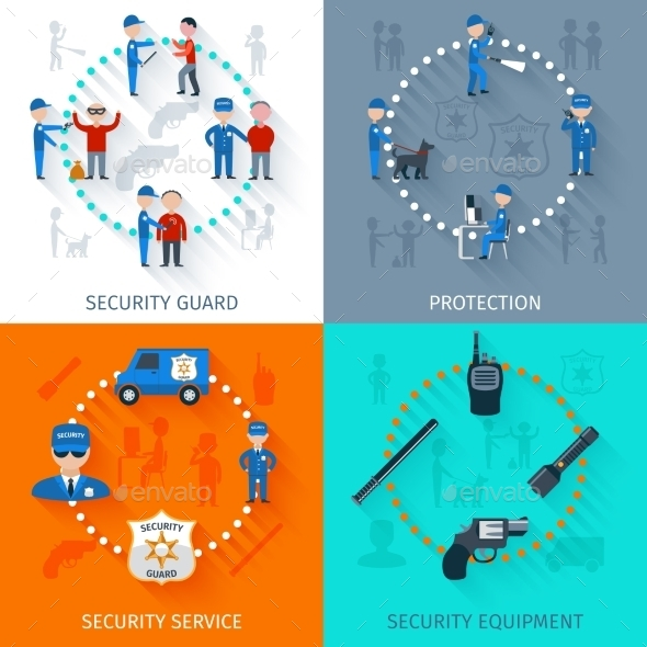 GraphicRiver Security Guard 4 Flat Square 11759056