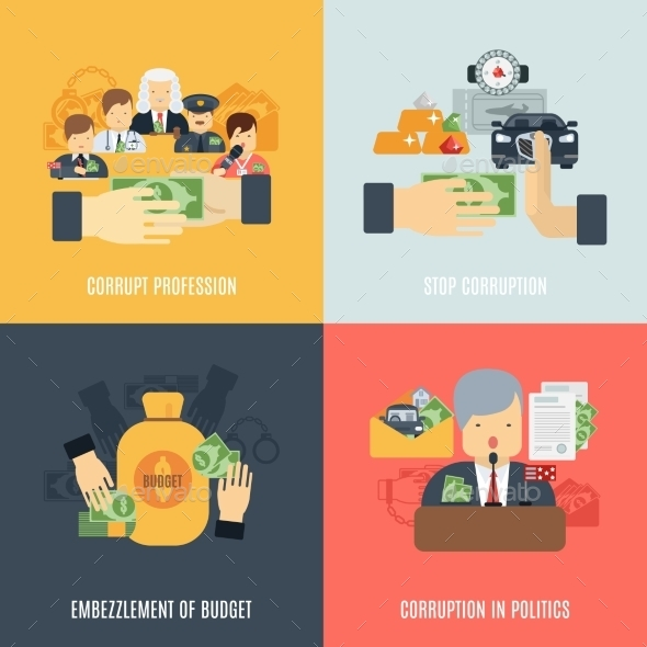 GraphicRiver Flat Corruption Set 11759058