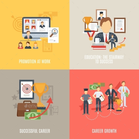 GraphicRiver Flat Career Set 11759061