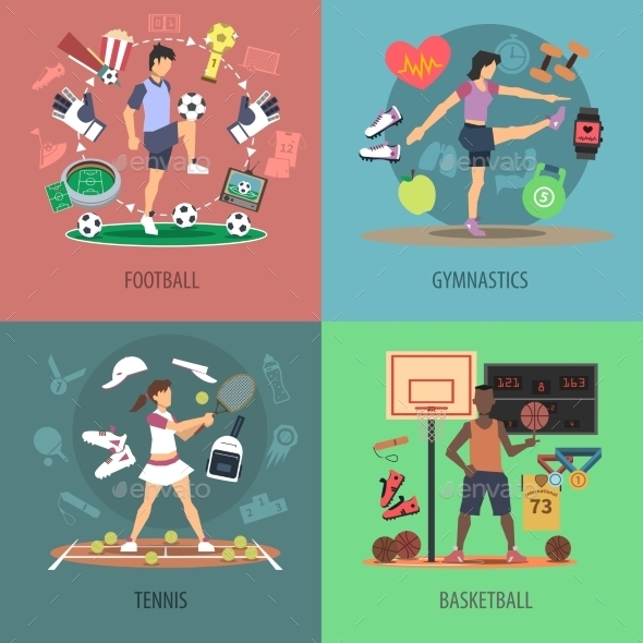 GraphicRiver Sport People Design Concept Set 11759073