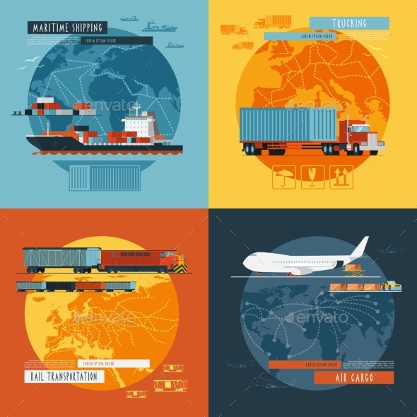 GraphicRiver Logistic4 Flat Icons Banner 11759081