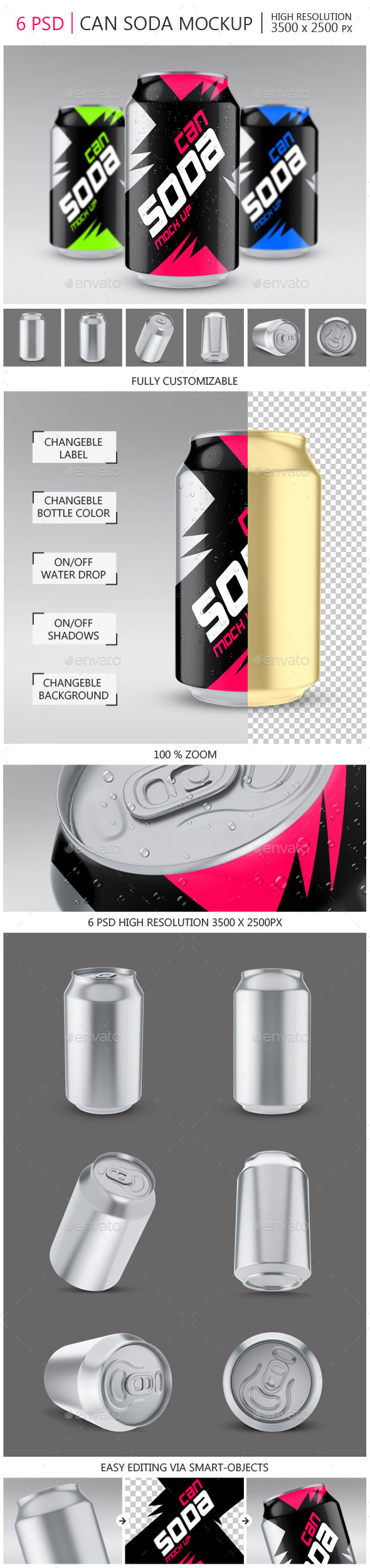 GraphicRiver Soda Can Mock-up 11759084