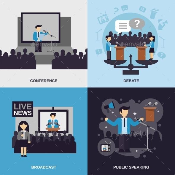 GraphicRiver Public Speaking Flat Set 11759085