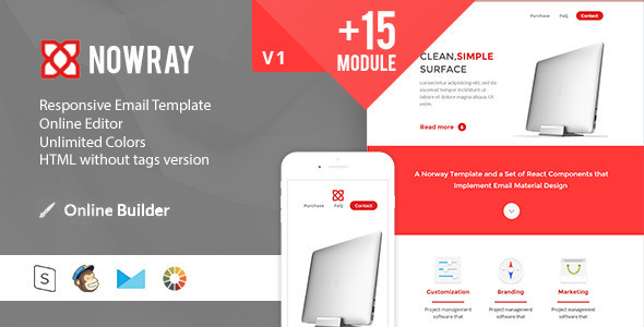ThemeForest Norway Modern Email Template & Online Access 11679564