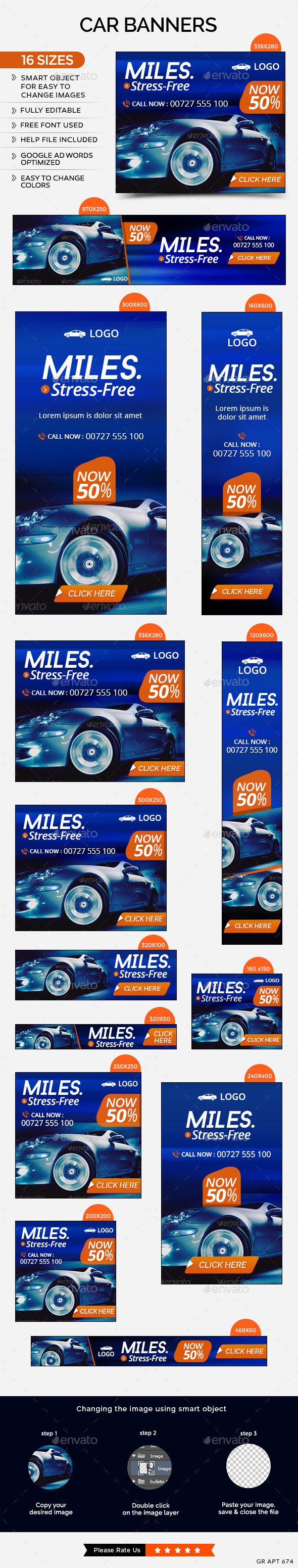 GraphicRiver Car Sale Banners 11759368