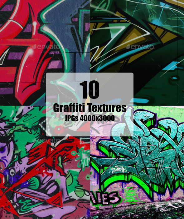 GraphicRiver Graffiti Wall Texture set 11759399