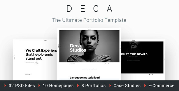 ThemeForest DECA Creative Multi Concept Portfolio Template 11759401