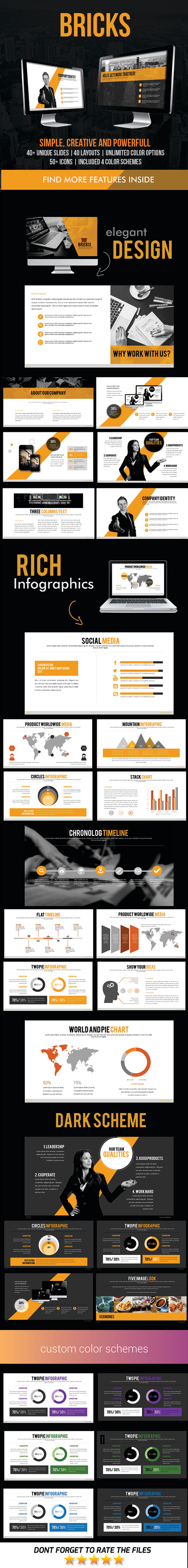 GraphicRiver Bricks PowerPoint Template 11760035