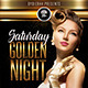 Saturday Golden Nights (Flyer Template 4x6)