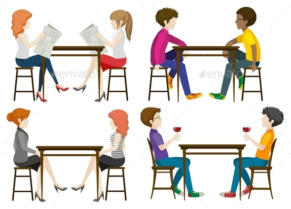 GraphicRiver Faceless People at the Table 11760664