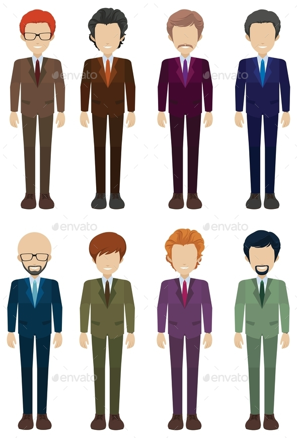 GraphicRiver Faceless Businessmen 11760679