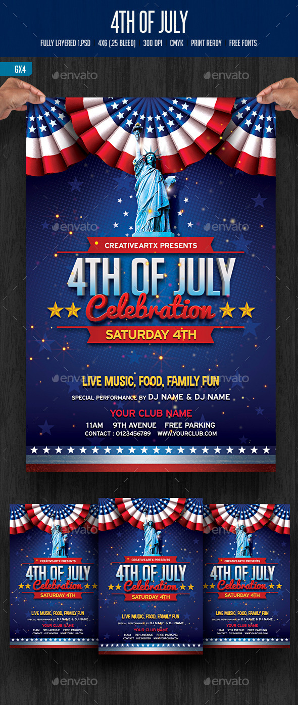 GraphicRiver 4th of July Celebration 11760742
