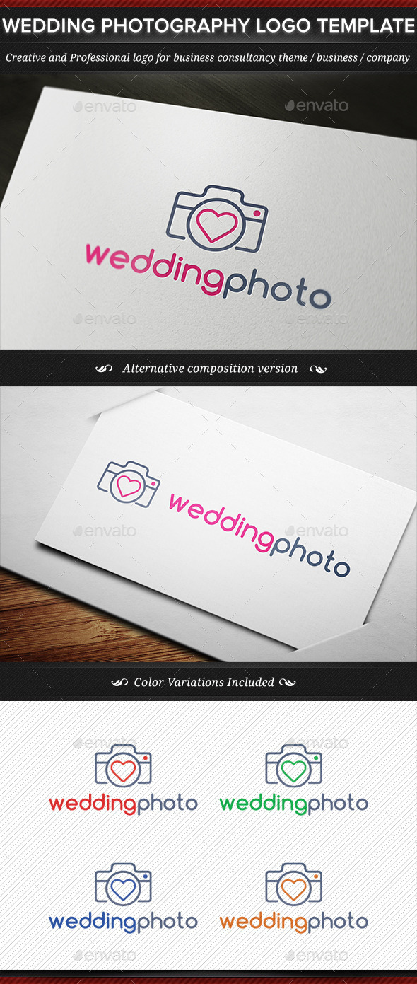 GraphicRiver Wedding Photography Business Logo Template 11760825