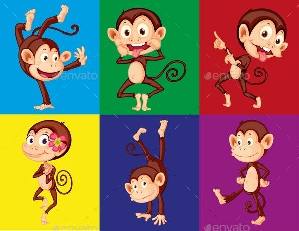 GraphicRiver Monkeys 11760931