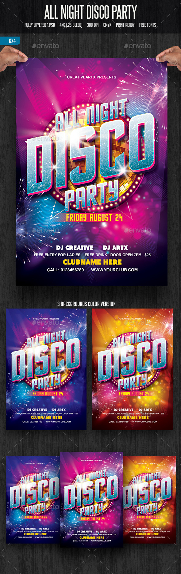 GraphicRiver All Night Disco Party 11761119