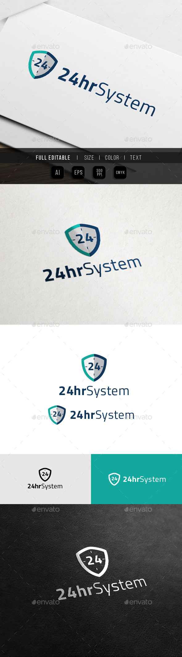 GraphicRiver 24 Hour Protection 24 Shield 11761125