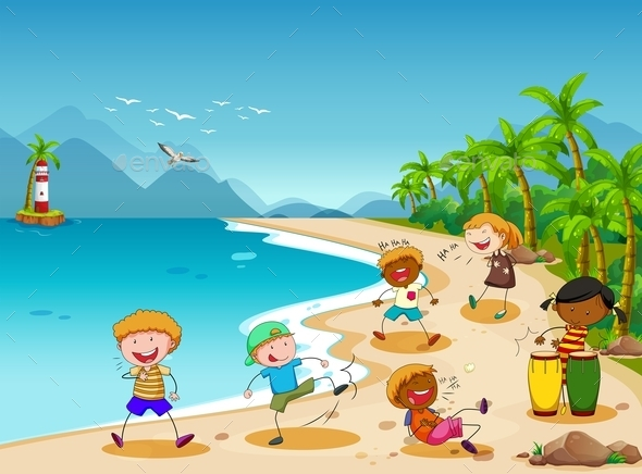 GraphicRiver Children and Beach 11761161