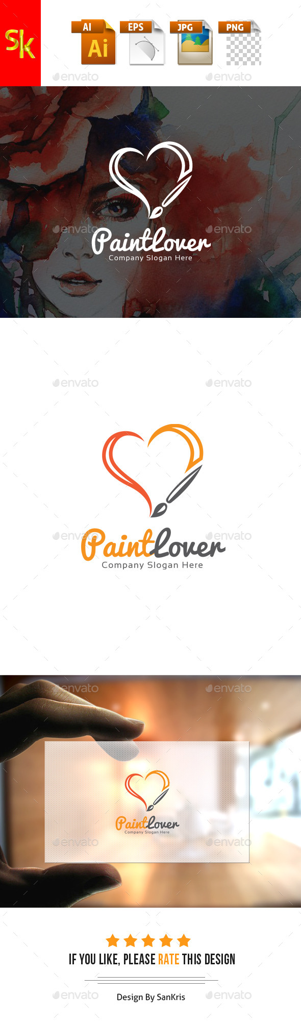 GraphicRiver Paint Lover Logo 11761360