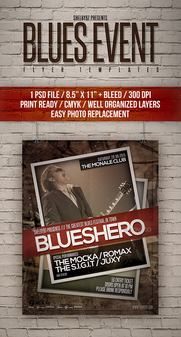 GraphicRiver Blues Event Flyer Templates 11761520