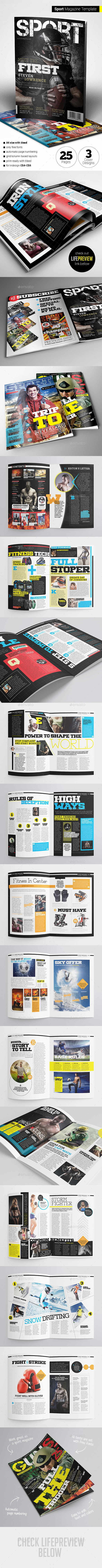GraphicRiver Sport Magazine 11761550