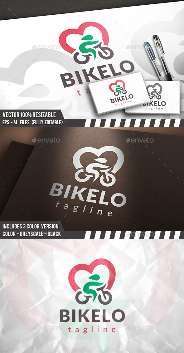 GraphicRiver Bike Love Logo 11762252