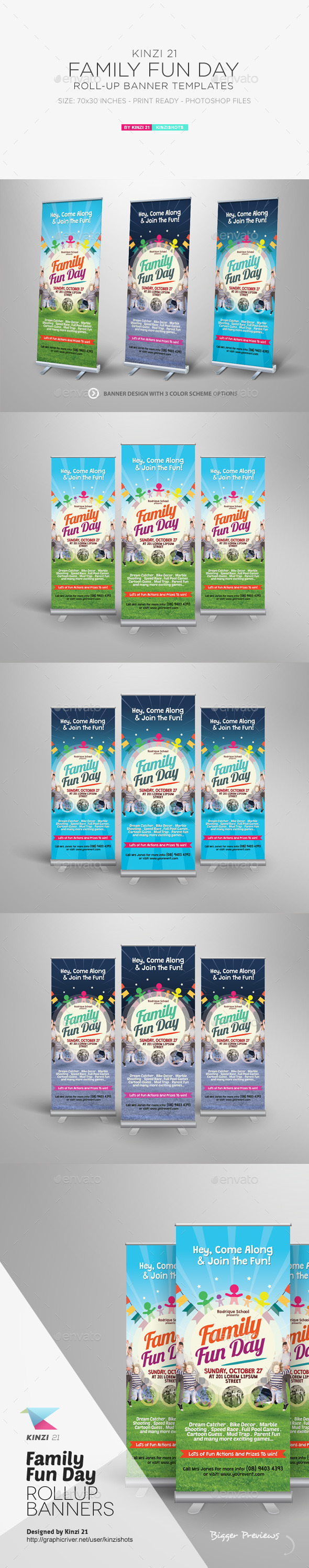 GraphicRiver Family Fun Day Roll-up Banners 11762412