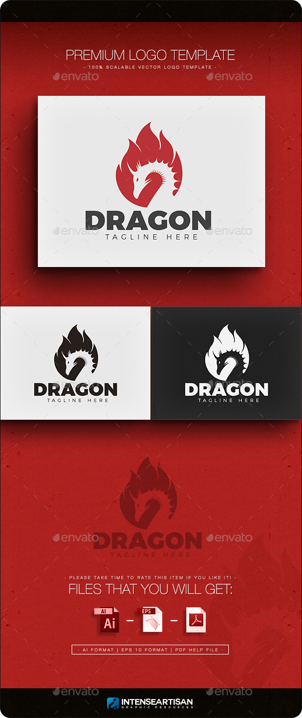 GraphicRiver Dragon V.2 Logo 11762446