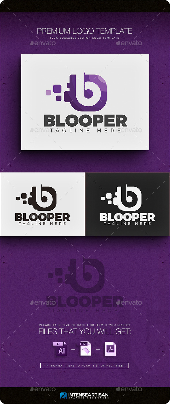 GraphicRiver Blooper V.2 Letter B Logo 11762551