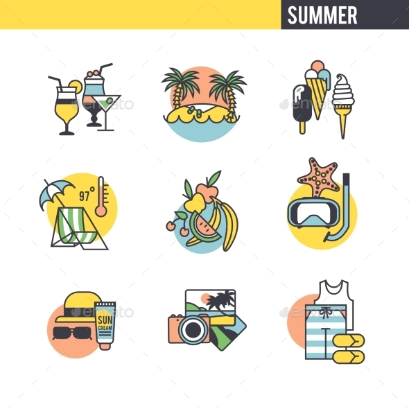 GraphicRiver The Concept Of Summer Vacation 11762659