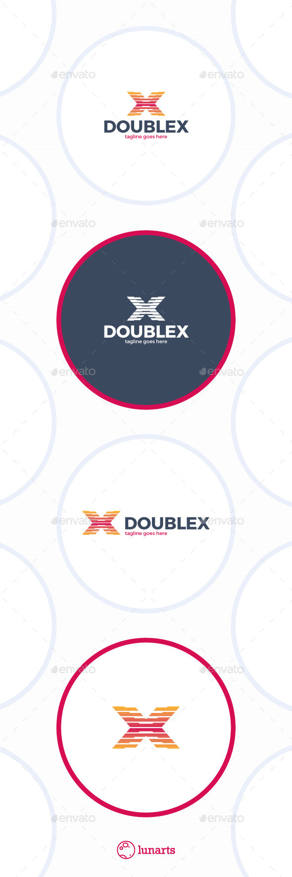 GraphicRiver Double X Letter Logo 11762790