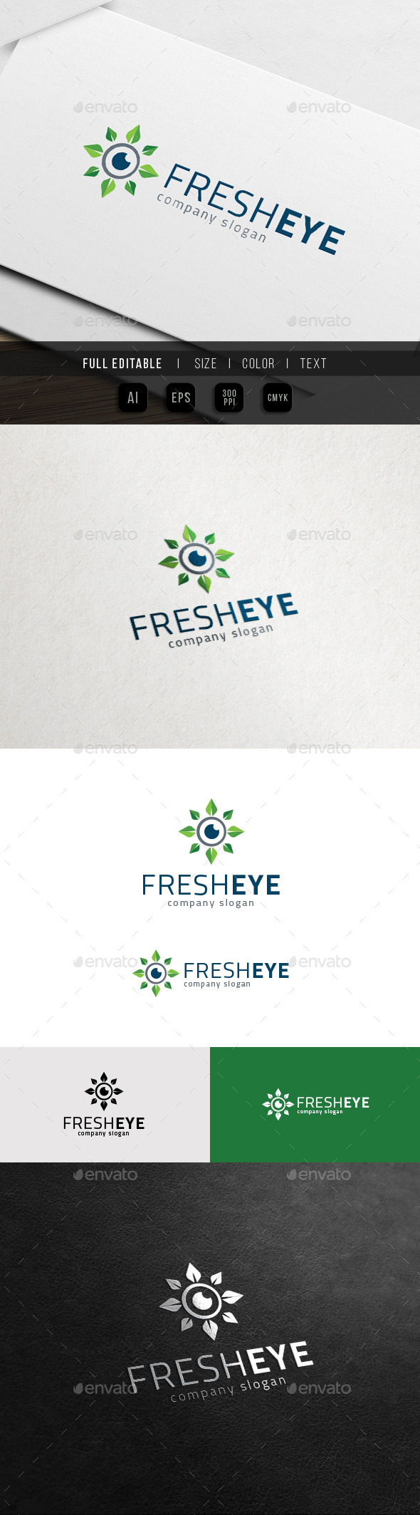 GraphicRiver Fresh Eye Herbal Healthcare Logo 11762805