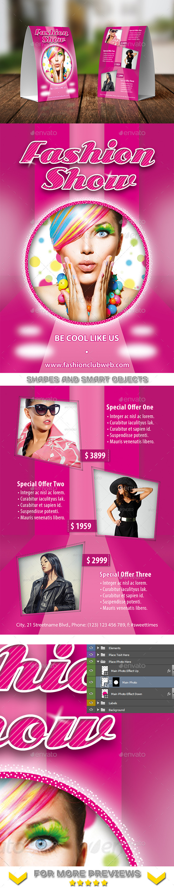 GraphicRiver Fashion Collections Table Tent Template 15 11763390