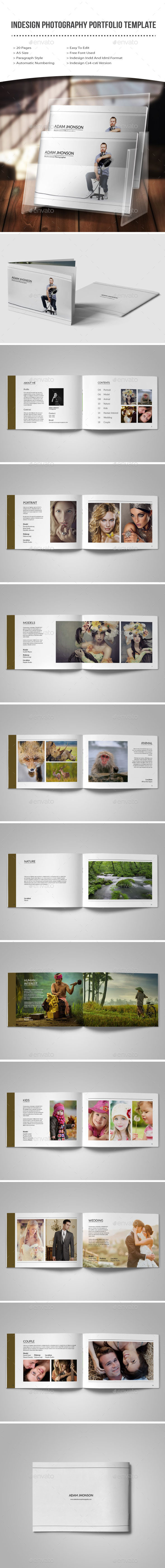 GraphicRiver Indesign photography portfolio template 11764618