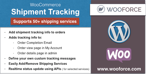 CodeCanyon WooCommerce Shipment Tracking 11693614