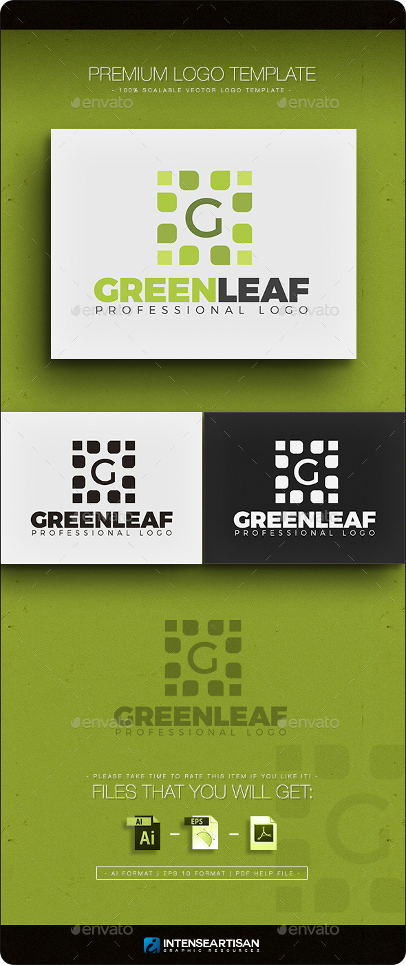 GraphicRiver Green Leaf Letter G Logo 11764801