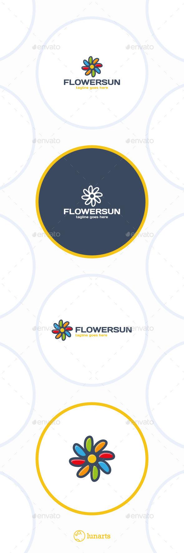 GraphicRiver Color Flower Sun Logo 11764978