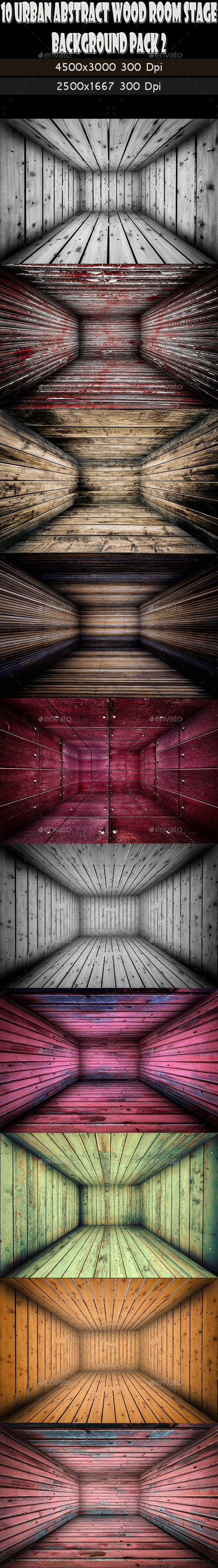GraphicRiver 10 Abstract Wooden Interior Walls Stage 2 11765628
